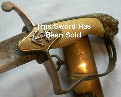 1800's pattern British Naval Officer's Sword