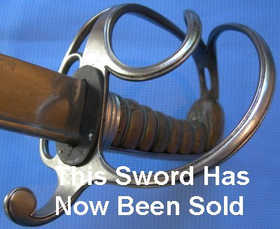 George 4th Pipeback British Cavalry Officer's Sabre