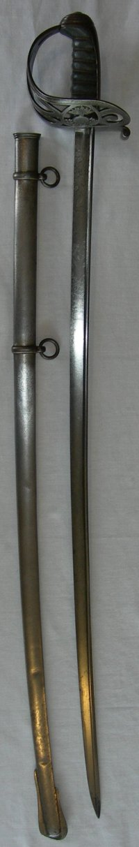 1854 Pattern Grenadier Guards Officer's Sword with pipeback blade