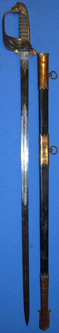 1827 Pattern Victorian British Naval Officer's Sword by Thurkle