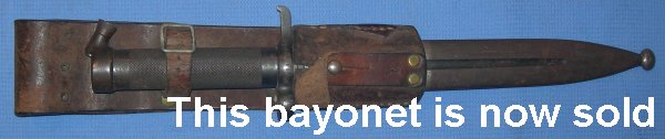 Swedish 1896 pattern Eskilstuna bayonet and sheath