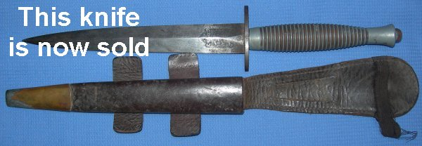 Rare WW2 Wilkinson Sword Fairbairn Sykes Fighting Knife 3rd Pattern