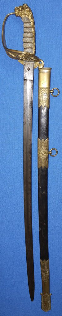 Mid-Victorian British Royal Navy Flag Officer's Sword