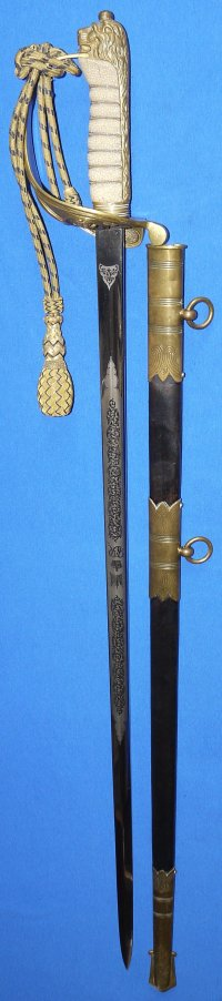 WW2 / George VI British Royal Navy Officer's Sword