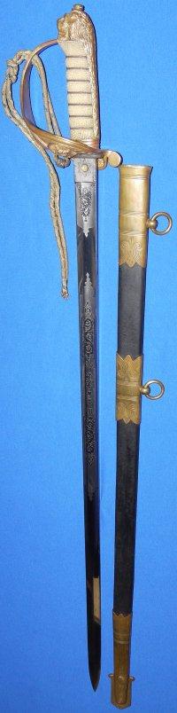 Victorian Royal India Marine Navy Officer's Sword, Sold
