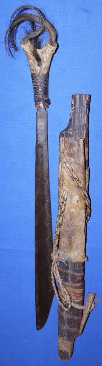 19th / 20th Century Borneo Dyak Mandau Headhunter's Sword