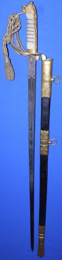 WW2 British Royal Navy Commander D A Forrest's Sword