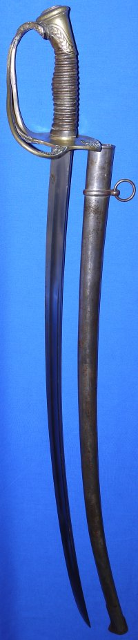 French Model 1822 Artillery Officer's Sword, Coulaux & Cie Klingenthal