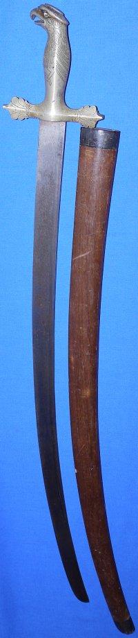 19C Borneo Dayak Pirate's Garuda Hilted Piso Padang Sword