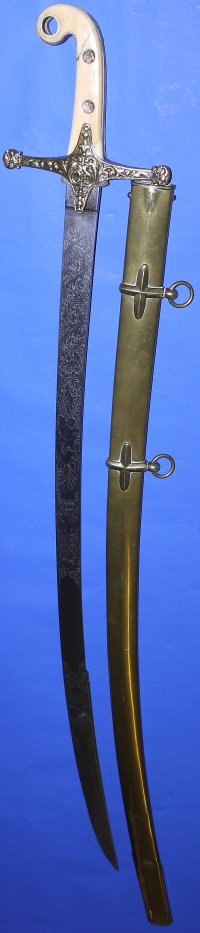 Victorian British Light Cavalry Officers Mameluke Sabre