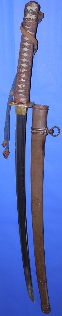 WW2 Japanese Army Officer's Shinshinto / Gendaito Bohi Bladed Shin Gunto with Knot