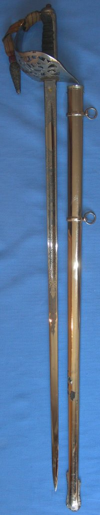 1895 Pattern Grey Etched British Infantry Officer's Sword