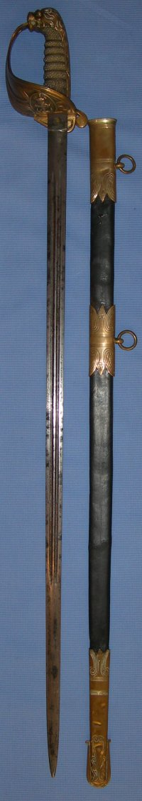 Victorian 1827P Naval Officer's Sword, Claymore Bladee, Mackay & Co