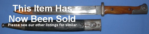 German / Prussian 1884/94 bayonet, marked for 1888, maker Alex Coppel