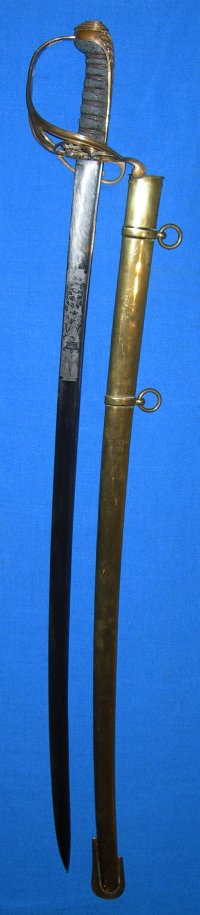 1822 Pattern Victorian British Infantry Officer's Pipe Back Sword