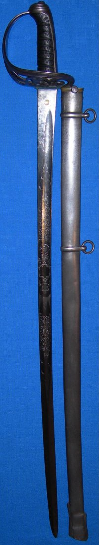 1827 Pattern Wilkinson Patent Solid Hilt Victorian Rifle Regiment Named Officer's Sword