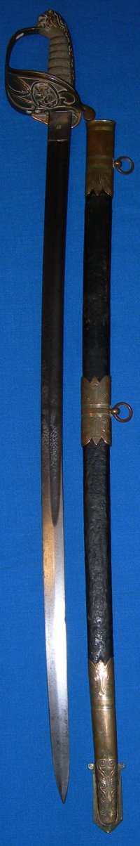 Mid Victorian 1827P British Royal Naval Officer's Sword