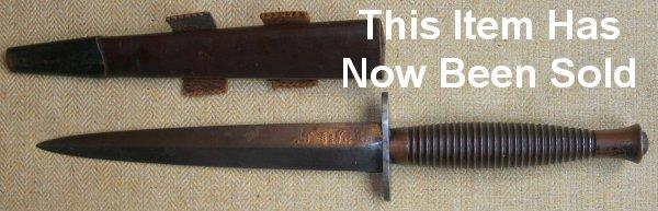 WW2 Fairbairn Sykes Fighting Knife, Wilkinson Sword, 3rd ...