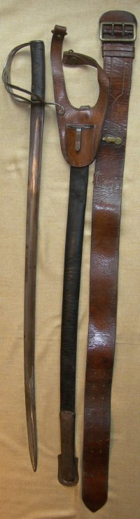 1853 Patt British made Indian Baroda Native State Cavalry Trooper's Sabre, belts