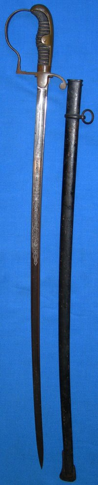 WW1 Era German Dove Head Artillery Officer's Sword by WK & C