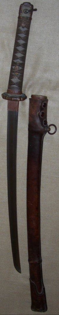 WW2 Named Japanese Army Officer's Shin Gunto, Earlier Unsigned Wakizashi Blade