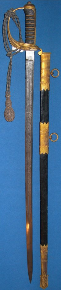 WW1 Royal Naval Junior Officer's Sword of Gunner Henry Turner, D.S.C