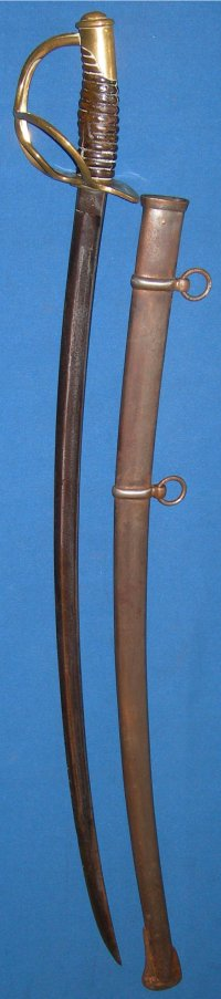1860 Model US Cavalry Sabre, Roby, Dated 1864
