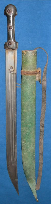 19th Century Caucasian / Russian Cossack's Kindjal / Bebut with Scabbard