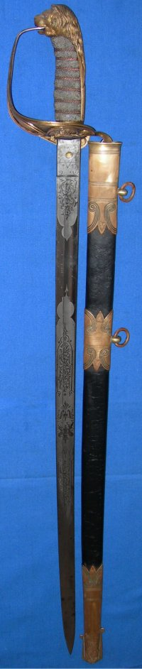 Victorian British Royal Navy Officer's Sword