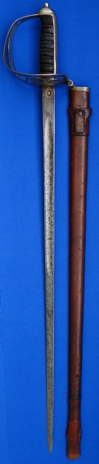 WW1 British Rifle Regiment (London's Finsbury Rifles) Named Officer's Sword