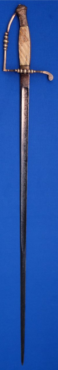 Napoleonic 1799 Model French Artillery Officer's 5 Ball Spadroon Sword