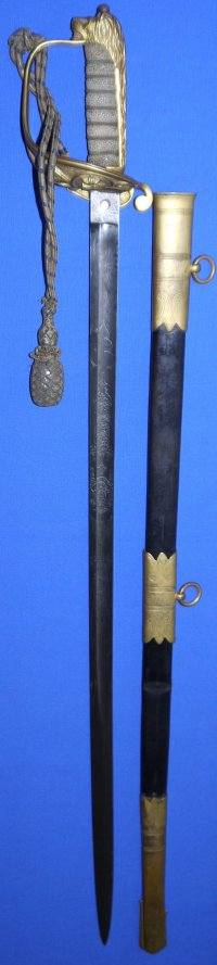 WW1 / George V British Royal Navy Named Officer's Sword
