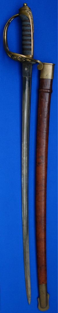 1889 Pattern VRI Victorian British Infantry Staff Sergeant's Sword, Thurkle made