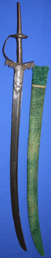 19C Indian Hindu Hilted Maratha Surai Khandar Sword
