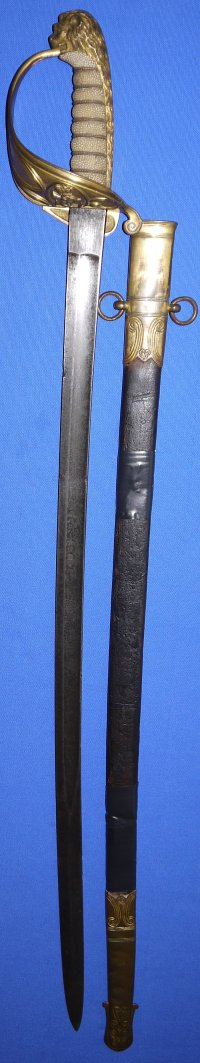 Victorian British Royal Naval Officer's Sword & Scabbard