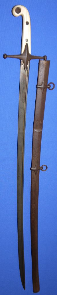 Mid Victorian British Light Cavalry Officer's Pipeback Mameluke Sabre