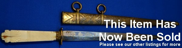 image O26 Napoleonic French Naval Officers Blue Gilt Dirk