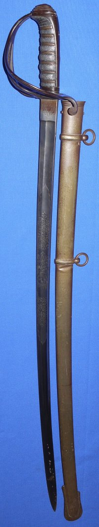 1821P British Light Cavalry Officer's Sword, Montgomery Yeomanry, circa 1855