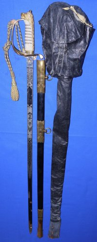 WW2 British Royal Navy Officer's Sword, Lt. C.F.H. Watson