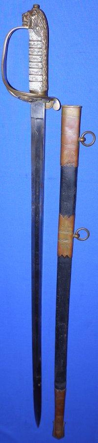 WW1 HMAS Australia Chief Navigational Officers Sword, Sold