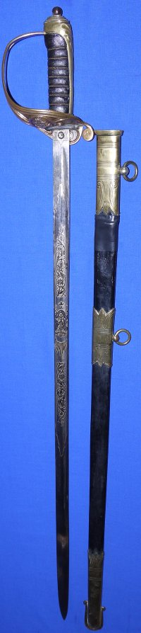 WW1 era British Royal Navy Junior Officer's Sword, J Friedeberg Portsea