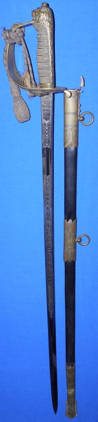 George V British Royal Indian Marine Officer's Wilkinson Sword, Sold