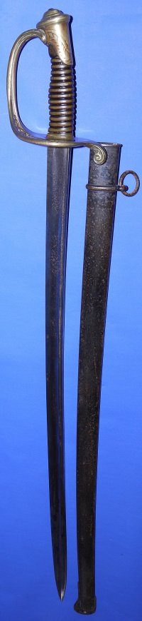 French 1845 Model Infantry Officer's Sword, dated April 1878