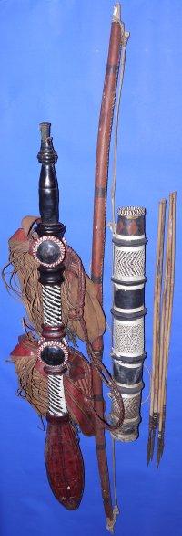 19C / 20C Sudanese Manding (Sword), Bow, Quiver & Arrows