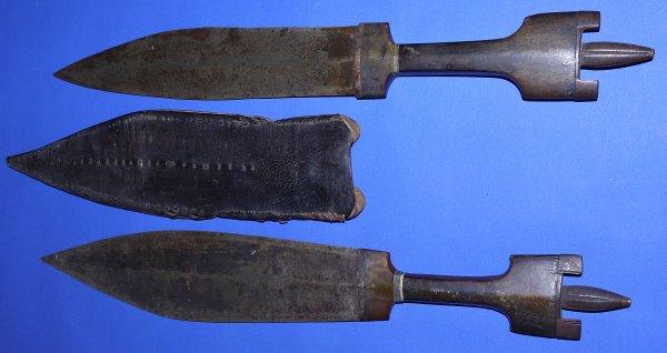 19C Two Somalian / Somali Billaou Daggers, Sold