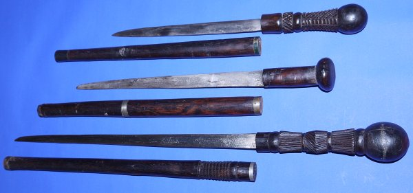 3 Early 20C African / Nigerian Cosh Knives