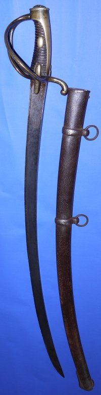 Waterloo French An XI / XIII Light Cavalry Trooper's Sabre / Sword