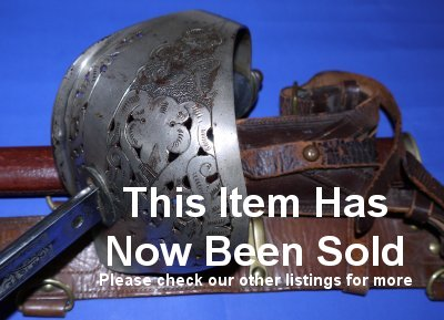 WW2 / George VI British Infantry Officer's Sword, Scabbard & Belts