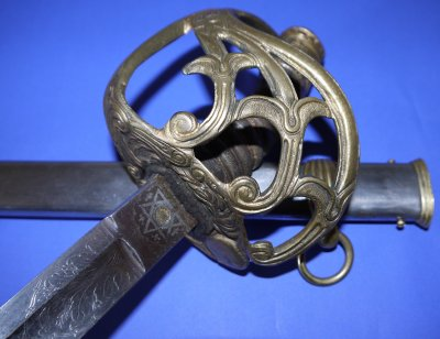 Circa 1850 British 2nd Life Guards Officers Wilkinson Sword