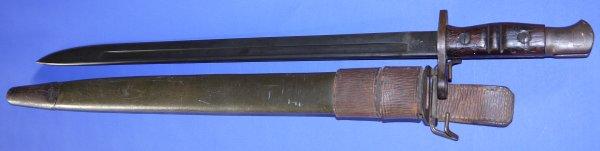 WW1 Remington British 1913P / US M1917 Bayonet & Scabbard, Sold